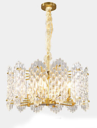 cheap -QIHengZhaoMing 6-Light Crystal Chandelier Ambient Light 110-120V / 220-240V, Warm White, Bulb Included / 15-20㎡
