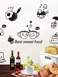 Недорогие -Декоративные наклейки на стены / Наклейки на холодильник - Наклейки для животных Животные Гостиная / Спальня / Ванная комната