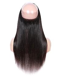 Недорогие -Fulgent  Sun Бразильские волосы 360 Лобовой Прямой Бесплатный Часть Китайский Кружева Натуральные волосы Жен. Кружевное закрытие Рождество / Новогодние подарки / Свадьба
