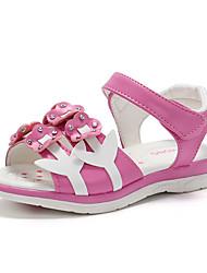 abordables -Fille Chaussures Polyuréthane Eté Confort / Chaussures de Demoiselle d'Honneur Fille Sandales Marche Fleur pour Enfants Blanc / Pêche /