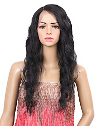 cheap -Synthetic Wig / Synthetic Lace Front Wig Wavy Side Part Synthetic Hair Synthetic / Best Quality / New Arrival Black Wig Women's Mid Length Lace Front Natural Black / Fashion