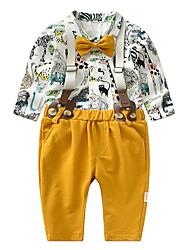 abordables -bébé Garçon Imprimé Manches Longues Ensemble de Vêtements