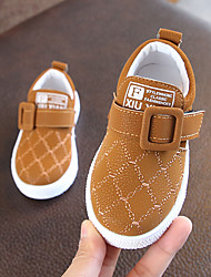 cheap -Boys' Shoes PU(Polyurethane) Spring & Summer Comfort Sneakers Walking Shoes for Teenager Black / Brown / Dark Green