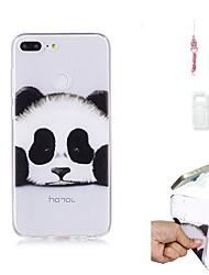 Недорогие -Кейс для Назначение Huawei Honor 9 Lite Прозрачный Кейс на заднюю панель Панда Мягкий ТПУ для Huawei Honor 9 Lite
