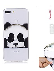 abordables -Funda Para Huawei Honor 9 Lite Transparente Funda Trasera Oso Panda Suave TPU para Huawei Honor 9 Lite