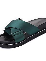 cheap -Women's Shoes Rubber Summer Comfort Slippers & Flip-Flops Flat Heel Black / Green