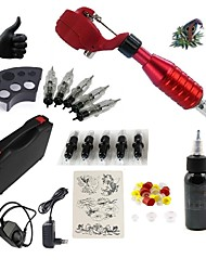 cheap -BaseKey Tattoo Machine Starter Kit - 1 pcs Tattoo Machines with 1 x 30 ml tattoo inks, Quiet, Adjustable Fit, Fast Charging Aluminum Alloy Power plug Case Included 20 W 1 rotary machine liner & shader