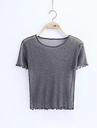 billige -Dame - Ensfarvet I-byen-tøj T-shirt