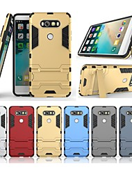 cheap -Case For LG V20 with Stand Back Cover Solid Colored Hard PC for LG V20