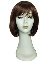 cheap -Synthetic Wig / Cosplay & Costume Wigs Curly Bob Haircut / Short Bob Synthetic Hair Simple / Women / Synthetic Brown Wig Women's Long Capless / Doll Wig / Natural Hairline