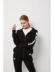 cheap -Women's Basic Hoodie - Solid Colored / Geometric, Print