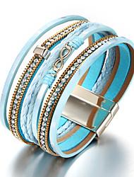 cheap -Women's Wrap Bracelet - Ethnic, Fashion Bracelet Light Blue Infinity For Daily Carnival