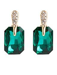 baratos -Mulheres Cristal Brincos Curtos - Guloseima, Simples, Vintage Preto / Verde / Rosa claro Para Festa Presente