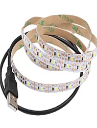 abordables -1m Tiras LED Flexibles 60 LED 2835 SMD Blanco Cálido / Blanco Cortable / USB / Decorativa Alimentado por USB 1pc / Auto-Adhesivas