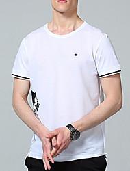 baratos -Homens Camiseta Básico Estampado, Retrato