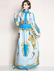 お買い得  -女性用 ボヘミアン / ストリートファッション スウィング ドレス - プリント, 動物 マキシ