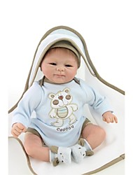 cheap -NPKCOLLECTION Reborn Doll Baby Boy 18 inch lifelike, Artificial Implantation Brown Eyes Kid's Boys' Gift