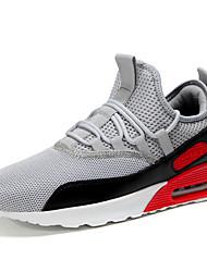 abordables -Homme Chaussures Maille Eté Confort Chaussures d'Athlétisme Course à Pied Noir / Vert Véronèse / Rouge