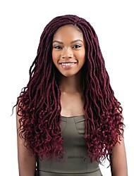 Недорогие -Волосы для кос Волнистый Спиральные плетенки Кудрявые косы Pre-петлевые вязания крючком плетенки Искусственные волосы 1 шт. 24 корня / пакет косы волос 45 см Расширения Dreadlock 100