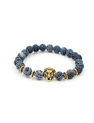 preiswerte -Herrn Achat Strang-Armbänder - versilbert, vergoldet Tiere, Natur, Modisch Armbänder Gold / Silber Für Geschenk Alltag