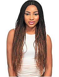 cheap -Synthetic Wig Curly Braid Synthetic Hair Ombre Hair / Middle Part / Braided Wig Dark Brown Gold Blonde Ombre Wig Women's Long Capless