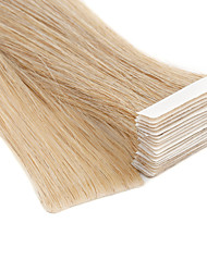 cheap -Neitsi Tape In Human Hair Extensions Straight Blonde Human Hair Extensions Skin Weft Hair Extension Human Hair 20 inch 100% Hand Tied / Double Drawn / Thick Hair End Women's