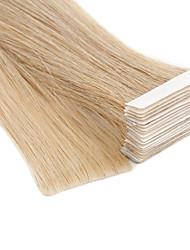 Недорогие -Neitsi На ленте Расширения человеческих волос Прямой Блондинка Накладки из натуральных волос Расширение волос утка кожи Натуральные волосы 20 дюймовый 100% ручная работа / Double Drawn