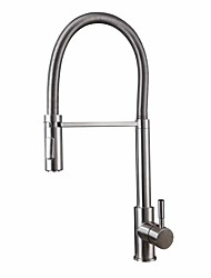 cheap -Kitchen faucet - Universal Stainless Steel Tall / High Arc Free Standing