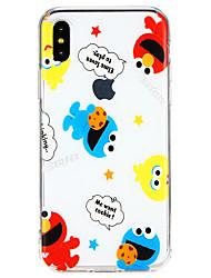 Недорогие -Кейс для Назначение Apple iPhone X / iPhone 8 Ультратонкий Кейс на заднюю панель Слова / выражения / Мультипликация Мягкий ТПУ для iPhone X / iPhone 8 Pluss / iPhone 8
