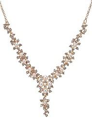 abordables -Femme Chaîne épaisse Collier Y - Imitation de perle Fleur Classique, Mode Or 40+8 cm Colliers Tendance 1pc Pour Quotidien