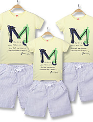 cheap -Adults Family Look Letter Short Sleeve Clothing Set