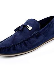 abordables -Homme Chaussures Polyuréthane Automne Moccasin / Chaussures de plongée Mocassins et Chaussons+D6148 Noir / Bleu