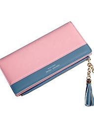 Недорогие -Жен. Мешки PU Бумажники С кисточками Розовый / Серый / Лиловый