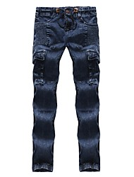cheap -Men's Cotton Slim Jeans Pants - Solid Colored / Please choose one size larger according to your normal size.