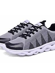 Недорогие -Муж. Полотно / Эластичная ткань Лето Удобная обувь Спортивная обувь Беговая обувь / Дышащая спортивная обувь Контрастных цветов Серый / Белый / синий