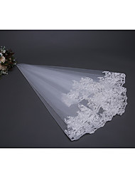 cheap -One-tier Fashionable Jewelry / Flower Style / Mesh Wedding Veil Shoulder Veils 53 Scattered Bead Floral Motif Style 59.06 in (150cm) POLY / Tulle