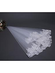 economico -1 strato Floreale / Maglia / Abito trasformabile Veli da sposa Velo corto (alle spalle) Con Motivo floreale di perle 59,06 in (150cm) POLY / Tulle