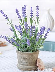 cheap -Artificial Flowers 1 Branch Classic / Single Rustic / Vintage Lavender Tabletop Flower