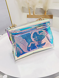 baratos -Mulheres Bolsas PVC Conjuntos de saco 2 Pcs Purse Set Tachas / Botões Arco-íris