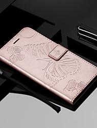 Недорогие -Кейс для Назначение Huawei Honor 9 Lite / Honor 7A Кошелек / Бумажник для карт / Флип Чехол Бабочка Твердый Кожа PU для Huawei Honor 9 Lite / Honor 7X / Honor 7A