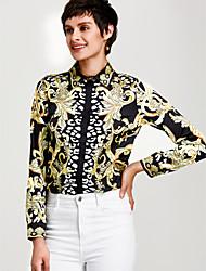 cheap -Women's Sophisticated Shirt - Floral, Print Shirt Collar