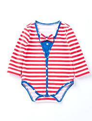 cheap -Baby Girls' Striped Short sleeves Bodysuit