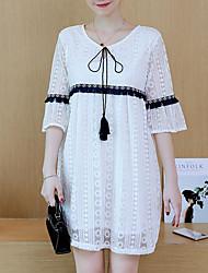 cheap -women's chiffon dress lace above knee