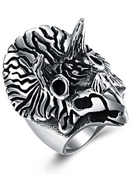 cheap -Men's Band Ring - Owl Fashion 8 / 9 / 10 Silver For Gift / Daily