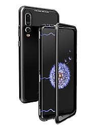 Недорогие -Кейс для Назначение Huawei P20 / P20 Pro Флип / Прозрачный Чехол Однотонный Твердый Металл для Huawei P20 / Huawei P20 Pro