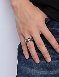 Недорогие -Муж. Кольцо - Нержавеющая сталь Корона Камни, Мода Серебряный Назначение Повседневные Для улицы