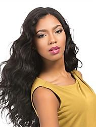 お買い得  -レミーヘア フロントレース かつら ブラジリアンヘア / ウェーブ ウェーブ 130% 密度 ベビーヘアで / ソフト / ナチュラルヘアライン ナチュラル ショート / ロング / ミッドレングス 女性用 人毛レースウィッグ