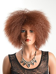 Недорогие -Парики из искусственных волос Кудрявый Стиль Стрижка каскад Без шапочки-основы Парик Черный / коричневый Черный как смоль Medium Auburn Искусственные волосы Жен. Для вечеринок Черный Коричневый Парик