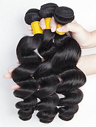 cheap -Peruvian Hair Wavy Natural Color Hair Weaves / Human Hair Extensions 3 Bundles 8-28 inch Human Hair Weaves Capless Fashionable Design / Best Quality / New Arrival Natural Black Human Hair Extensions