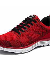 baratos -Homens sapatos Tecido elástico Outono Conforto Tênis Corrida Azul Escuro / Cinzento / Vermelho